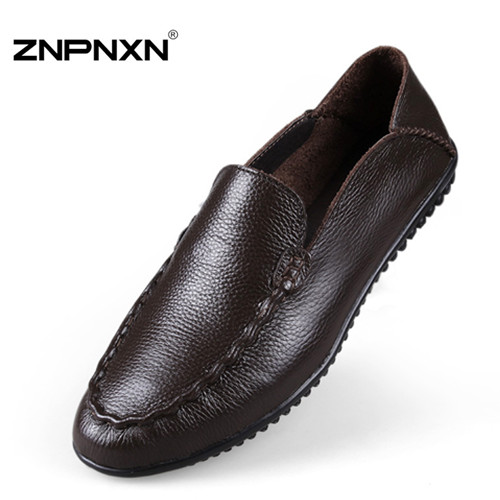 BIG SIZE Genuine Leather Men Flats Shoes Handmade Oxford Shoes For Men Loafers Moccasins Zapatos Hombre Male Chaussures Sapatas