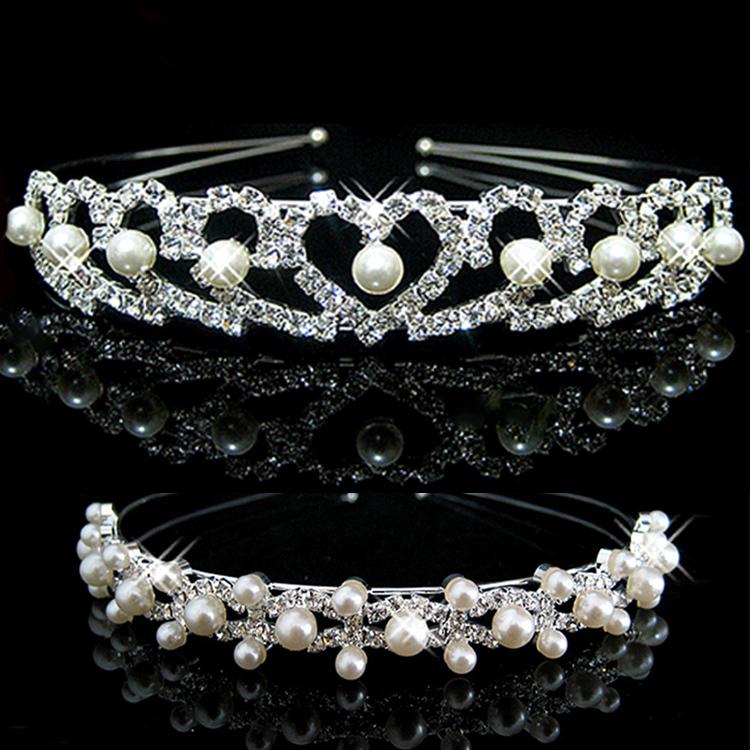 Women's Fashion Hair Accessories Elegant Headband Bride Crown Hairband With Crystals Pearls 3 Patterns Headwear-0036(China (Mainland))