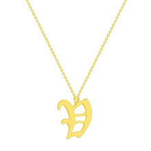 Cheap Stainless Steel Silver Letter A B C D E F G H I J K L M N O P Q I S T U V W X Y Z Alphabet Pendant Necklace Jewelry(China)