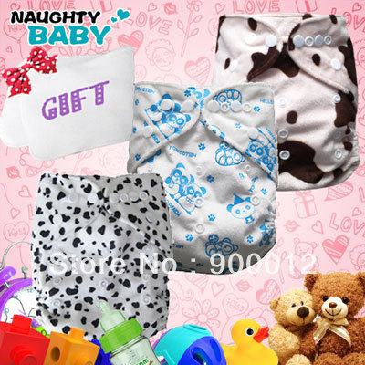 Free Shipping Minky Baby Diapers 30 sets(1+1)+10 microfiber insert Printed Baby Infant Cloth Diaper AIO Reusuable Nappy +GIFT<br><br>Aliexpress