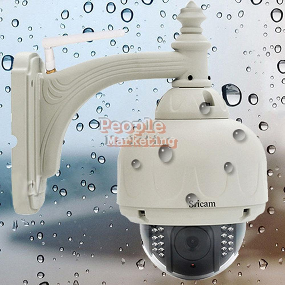 Гаджет  Sricam CMOS HD H.264 Wireless PTZ Dome Wifi Network IP Camera EU Plug P4PM None Безопасность и защита