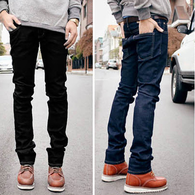 Men's clothing base 2014 fashion mans jeans two color slim water wash skinny pants male men - store