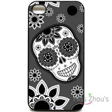 For iphone 4/4s 5/5s 5c SE 6/6s plus ipod touch 4/5/6 back skins cellphone cases cover Mexican Skull pattern cute funky retro