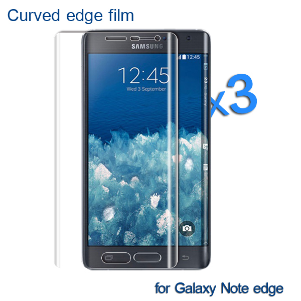 For Samsung Galaxy Note edge screen protector Full cover TPU material screen protector 3 film+3 cloth+1 packaging(China (Mainland))