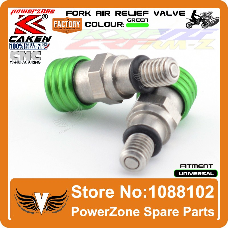 Fork Air Bleeder Relief Valve Green 5