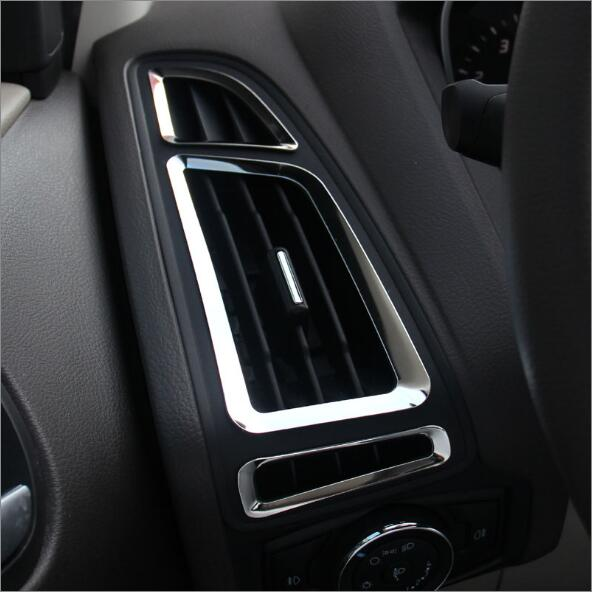 2012 2013 For Ford Focus 3 Mk3 Car Trim Accessories Stainless Steel Interior Outlet Decoration