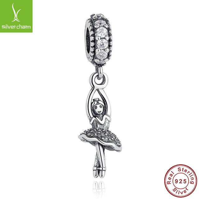 Горячая Продажа Стерлингового Серебра 925 Балерина Шарм Fit Original Pandora Браслет ...
