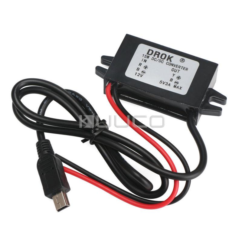 DC Step-Down Converter DC 8-22V 12V to 5V Auto Car Power Supply Waterproof USB Interface Power Supply #090596<br><br>Aliexpress