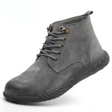 ZYYZYM Stalen Neus Schoenen Mannen Veiligheid Laarzen Pig Huid Industriële & Bouw Mannen Werken Veiligheid Laarzen Bescherming Buitenshuis Laarzen Man(China)
