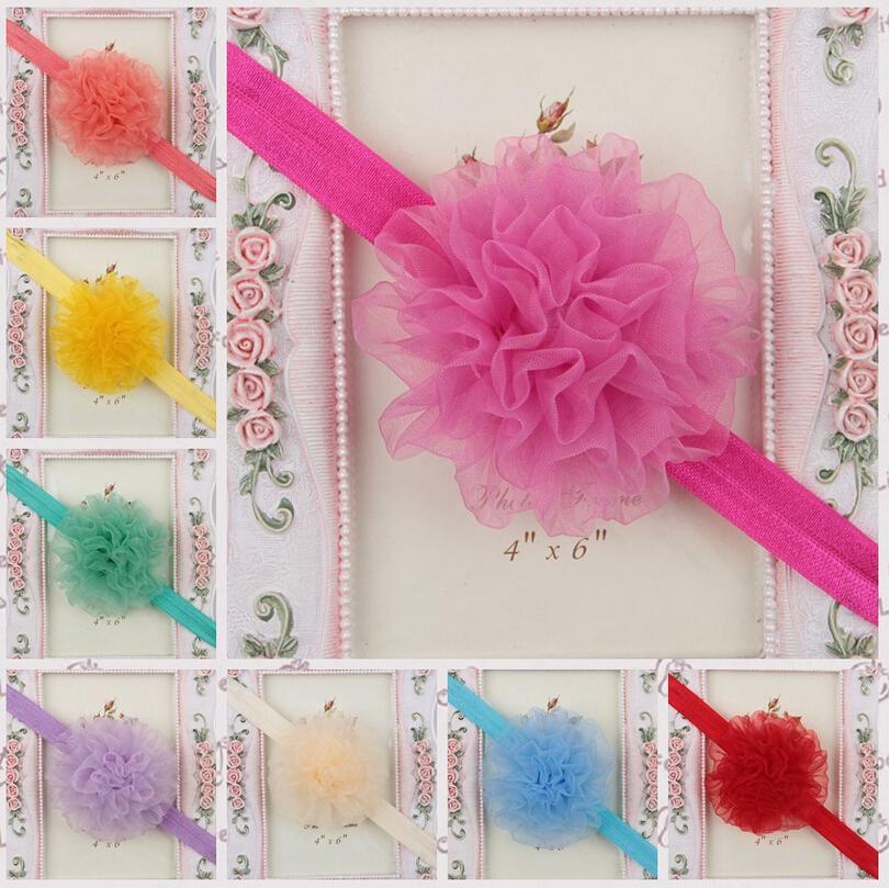 Baby Fabric Lace Flower Headbands Infant Girls Head Bands Newborn Headwear Toddler Children Hair accessories - Shanghai HELE Trade Company store