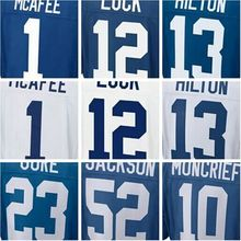 best quality,mens Pat new McAfee Andrew blue Luck TY good Hilton Donte elite Moncrief jerseys(China (Mainland))