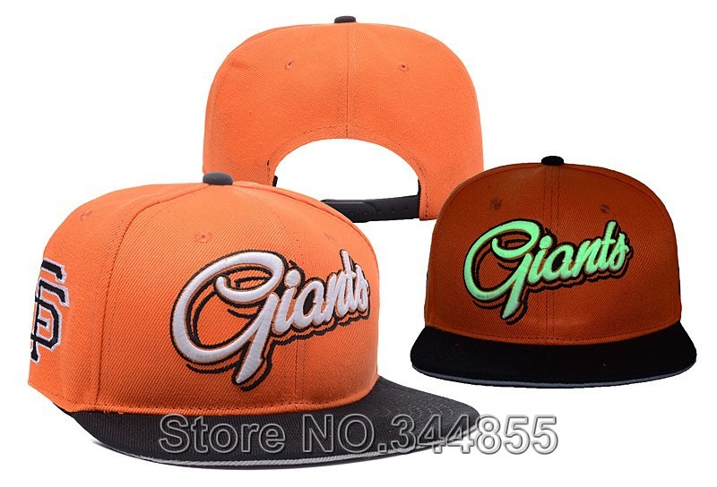 Free Delivery SF Reflective Style Baseball Snapback Hats Fashion Sport San Francisco Giants Adjustable Caps orange/black Color(China (Mainland))
