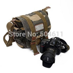 Course Canvas Dslr SLR Camera Shoulder Messenger Bag Camera video Carry Case Bag for Sony Canon Nikon Olympus--camouflage Color(China (Mainland))