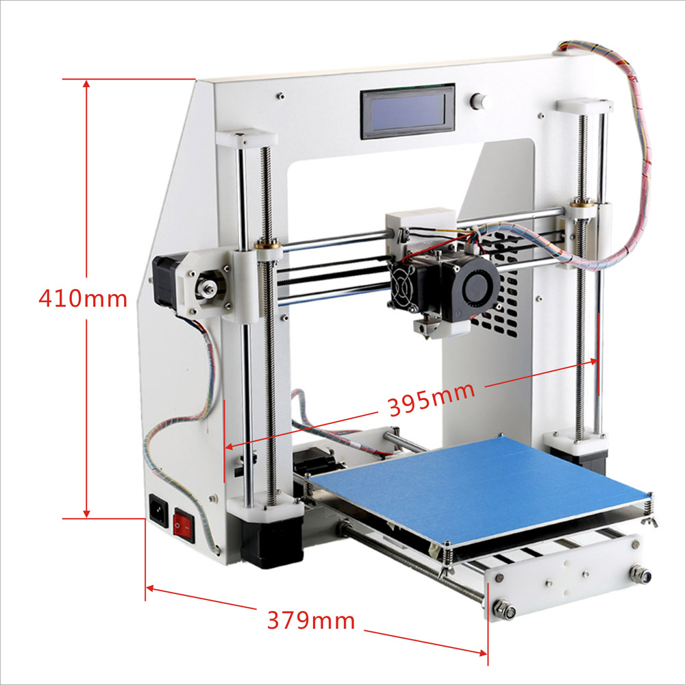 Kit stampante 3d prusa i3 metallo kit affidabile semiprofessionale italia novita - 3d printer italia ...