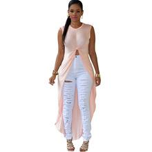 Buy SEBOWEL Women 2 Colors O Neck Sleeveless Maxi High Split Dress Women T Shirt Dress Sexy Long Dress Club Wear Maxi Party Dress for $11.00 in AliExpress store