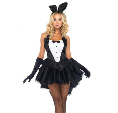Girl clothing  BUNNY CUSTOME  women halloween cosplay costume Bar Performance costume