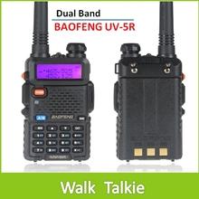 1PC BaoFeng UV5R Dual Band VHF 136-174MHz / UHF 400-480MHz 5W 128CH Walkie Talkie 2 Way Radio with LCD Display
