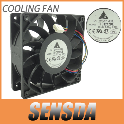 Delta 120mm 12cm PWM Fan TFC1212DE 252CFM vs PFB1212UHE, Most Powerful Server/CaseFan(China (Mainland))