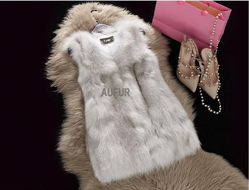 Real Fox Fur Gilets Natural Fur Vests Women Waistcoats Winter Fashion AU00784Одежда и ак�е��уары<br><br><br>Aliexpress