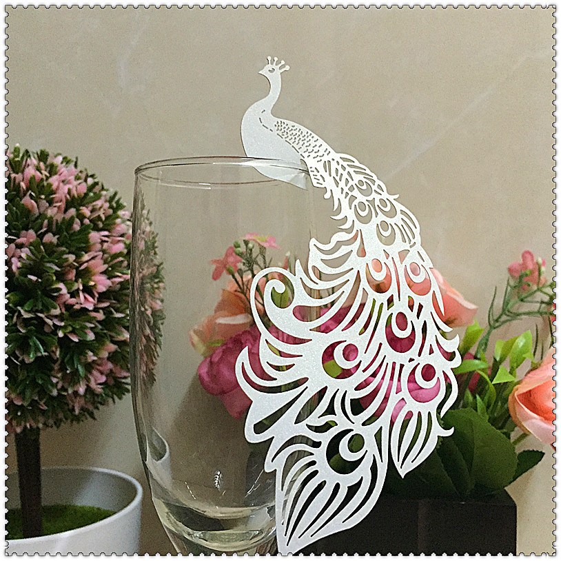 50pcs Laser Cut Paper Place Card Escort Card Cup Card Wine Glass Card Wedding Decoration Wedding Favors and gifts,wedding favors(China (Mainland))