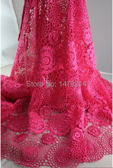 Free shipping Italian Style chemical lace cupion lace fabric for women Summer Party dress PGC0619-12(China (Mainland))