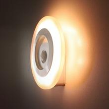Auto Night Light Body Sensors LED Light Motion Detector warm white wardrobe Bedside Room Night Lamp(China (Mainland))