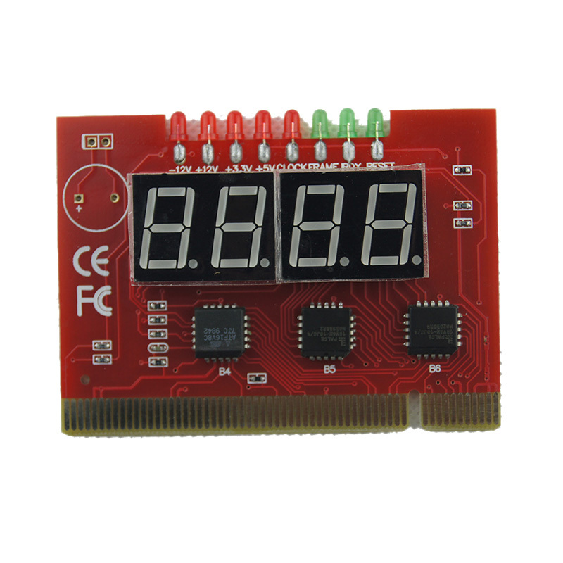 Computer Motherboard LED 4 Digit Analysis Diagnostic Test POST Card PCI PC Analyzer Motherboard(China (Mainland))