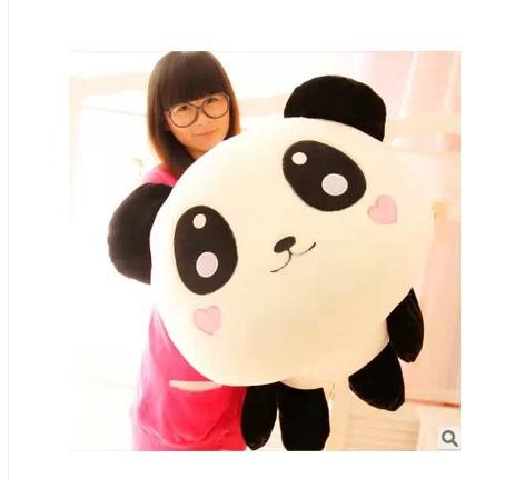 Stuffed toy smiley panda Lying Panda plush toy about 80cm soft doll Xmas GIFT wp4736(China (Mainland))