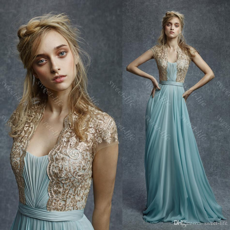 Lace beautiful prom dresses