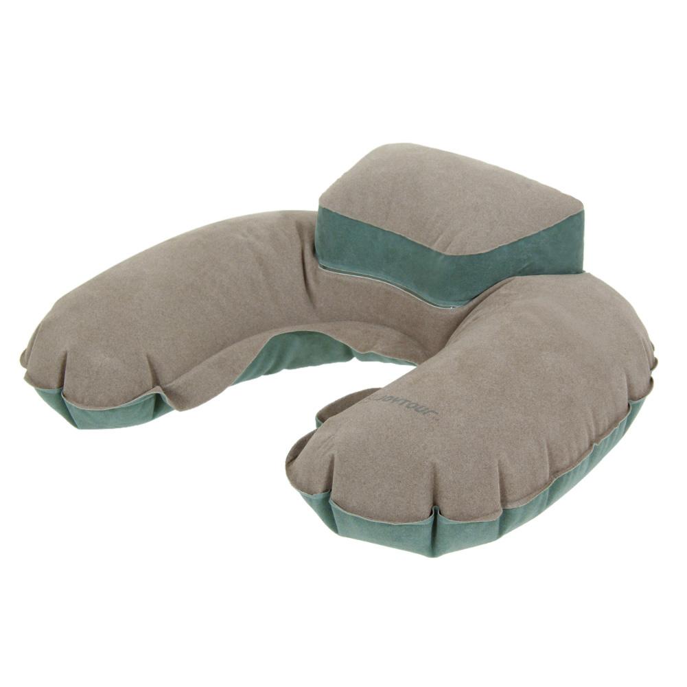 High Quality Air Pillow Inflatable U Shape Neck Blow Up Cushion PVC Flocking Pillow E#CH(China (Mainland))