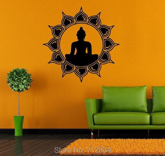 B Z D Free Shipping Home Decoration Buddha 4 Art Decals