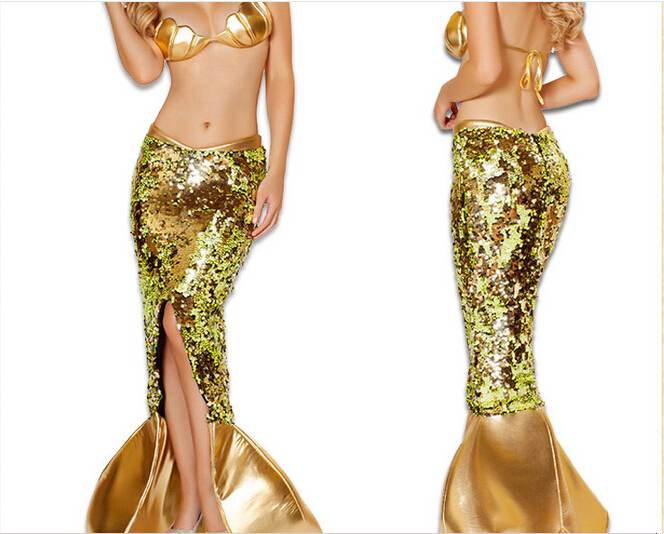Sexy Mesmerizing Sea Siren Mermaid Adult Women Halloween Costume NEW size M,L,XL(China (Mainland))