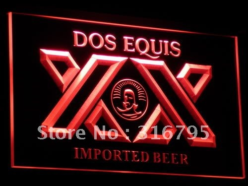 a042-r Dos Equis Beer Bar Pub Restaurant Neon Sign with On/Off Switch 7 Colors to choose(China (Mainland))