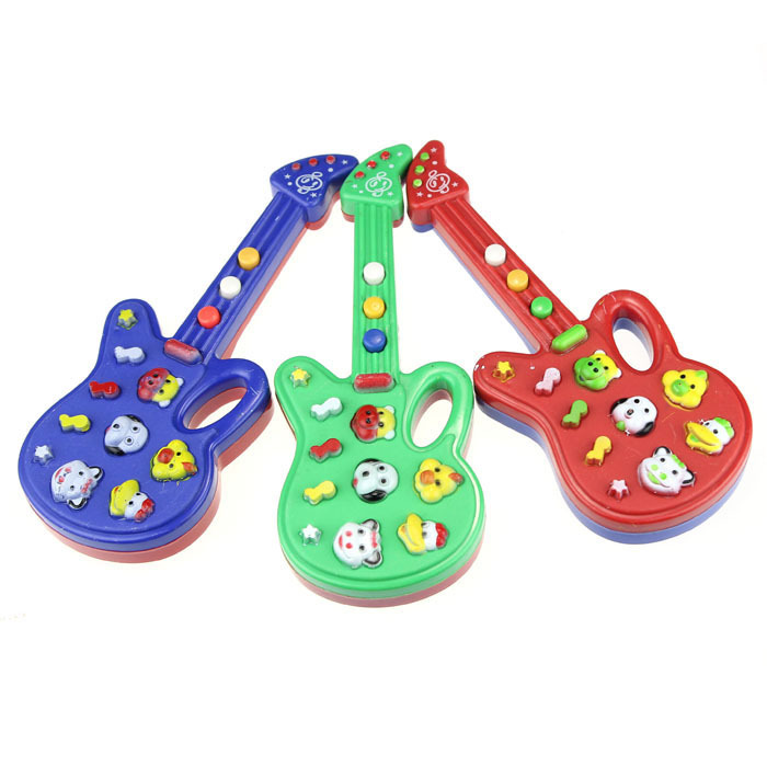 Wholesale Guitar ! New Arrival Nursery Rhyme Music Small Children Electronic Guitar Toy Girl Boy Wisdom Development Better Gifts(China (Mainland))