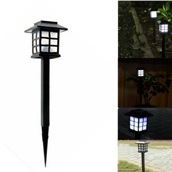 2015 Hot Waterproof Cottage Style White LED Solar Garden Light Outdoor Garden Lawn Landscape Decoration Lamps