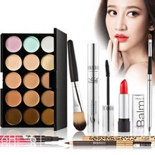 Pro Makeup Kits Gift Set Eyeshadow Eyebrow Eyeliner Powder Lip Gloss Eyelash Camouflage Concealer Palette Cosmetic Makeup set(China (Mainland))