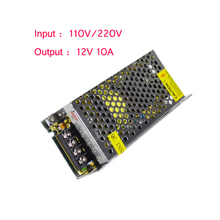 Dc12v 10A 120 W fuente de alimentación del LED utilizar la iluminación de tira llevada SMD3528 5050 5630 3014(China (Mainland))