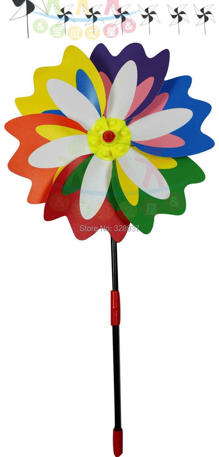 1000pcs/lot toy manufacturer wholesale cheap PVC plastic wholesale windmills pointed plug mountain glyph color windmill From DHL(China (Mainland))