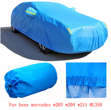 For benz mercedes w203 w204 w211 ML350 grey blue solid waterproof double layers car covers Dust snow anti uv four season(China (Mainland))