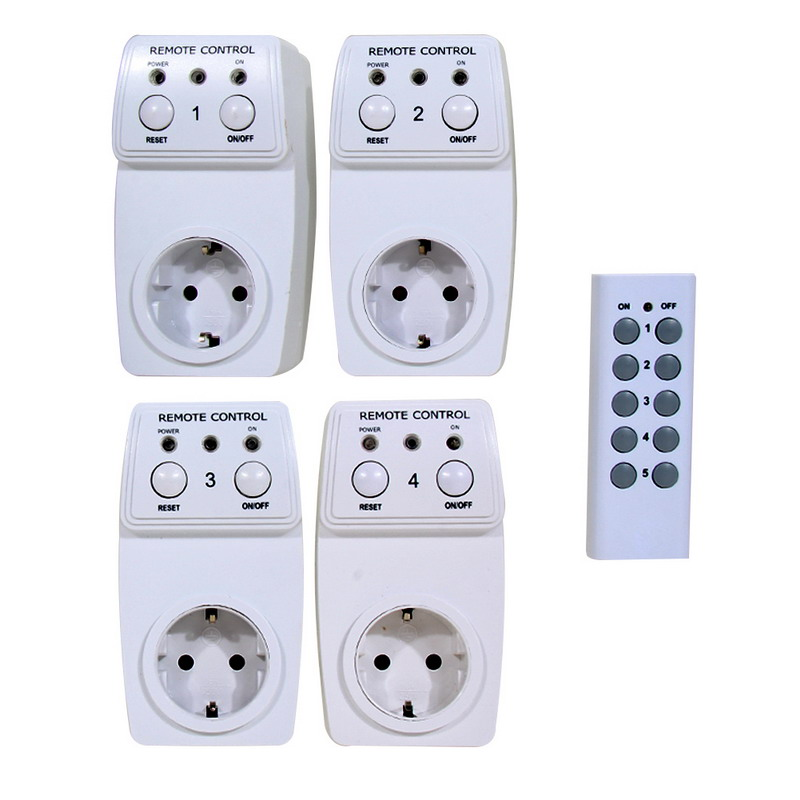 2016 New 4 Pcs Household / Office Intelligent Socket Wireless Remote Control Switch Timer Smart Power Socket EU Plug A#V9(China (Mainland))