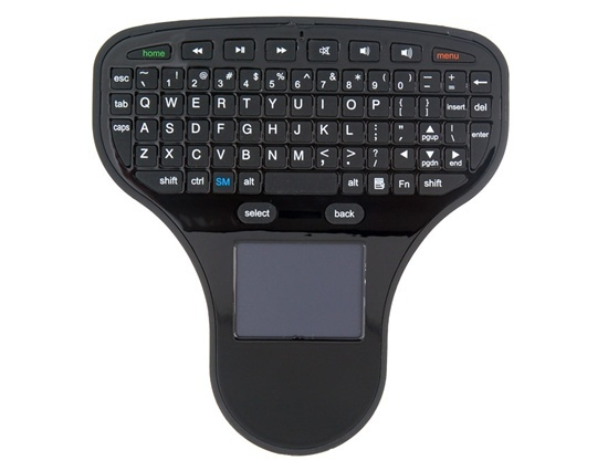Free shipping ON SALE! wireless keyboard and mouse Compact 2.4G Handheld Wireless Touchpad Mini Keyboard (Black)