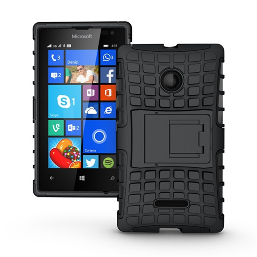 Tire Style Tough Rugged Dual Layer Hybrid Kick Stand Duty Armor Case for Microsoft Nokia Lumia 532 Kickstand Mobile Phone Case(China (Mainland))