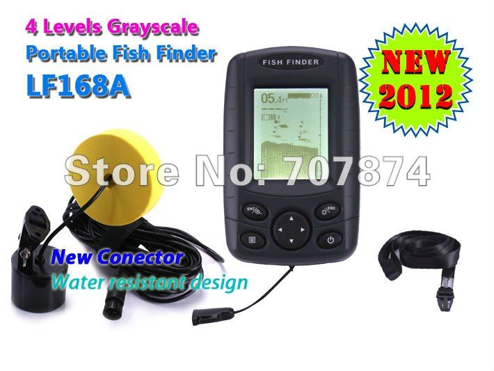 sonar depth finder Free Shipping new arrival fish finder fish detector LF168A fishing equipment(China (Mainland))