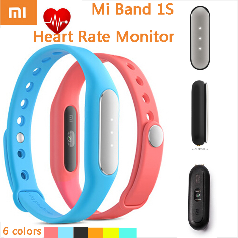 2015 Newest Xiaomi Miband 1S Heart Rate Monitor Mi Band Smart Bracelet For Android 4.4 And IOS 7.0 Passometer Fitness Tracker