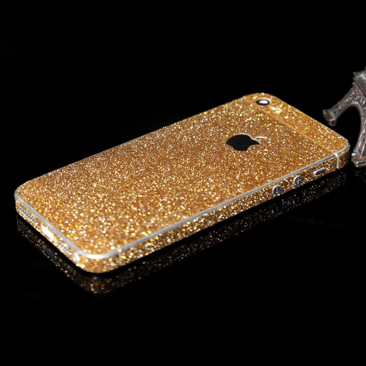 New Luxury Front + Back Full Body Golden Shining Silver Blingbling Silver Sticker for iPhone 6 Free shipping for iPhone 6 4.7''
