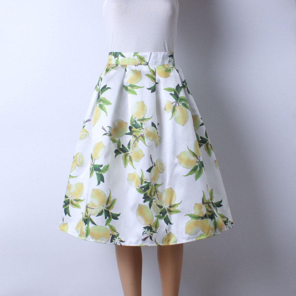 HTB1VtcZLVXXXXaVXpXXq6xXFXXXJ - GOKIC 2017 Summer Women Vintage Retro Satin Floral Pleated Skirts Audrey Hepburn Style High Waist A-Line tutu Midi Skirt