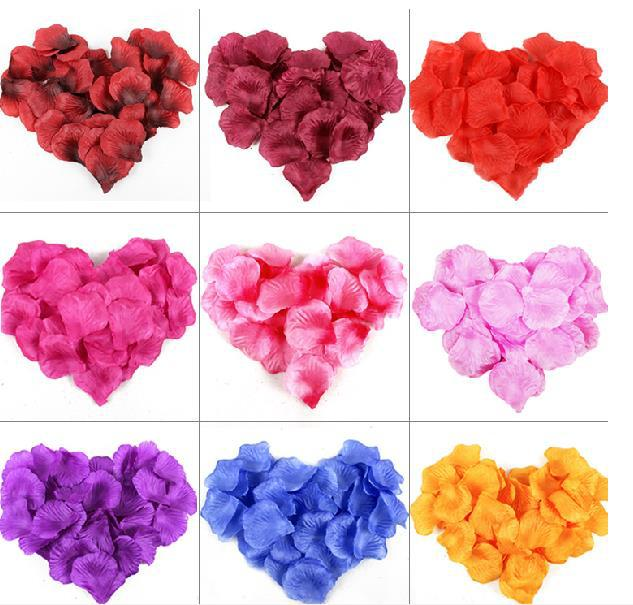 Free shipping 21colors 100pcs Atificial Wedding Rose Petals Petal wedding centerpieces wedding decoration christmas decoration
