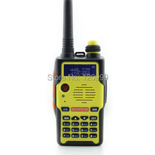 BAOFENG BF-E500S Yellow Color 128 channels 136-174/400-520MHZ Dual Band/Dual Watch Two-Way Radio walkie talkie portable radio(China (Mainland))