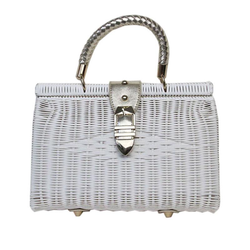 2016 new brand fashion women bags designer handbag high quality straw package superme washable high-grade rattan woven straw bag(China (Mainland))