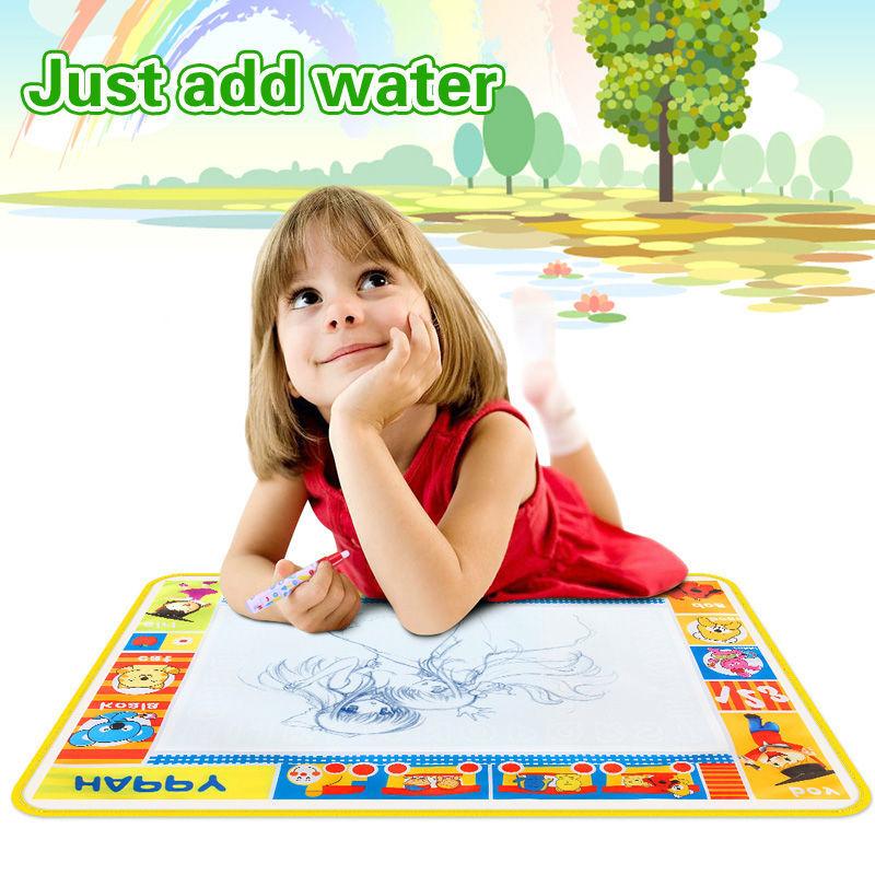 Free shipping 73X52cmMagic Water Doodle Mat &1 Magic Pen/Drawing Board /Water Mat/aquadoodle drawing mat Early Learning Toys(China (Mainland))